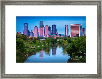 Houston Sunrise Framed Print