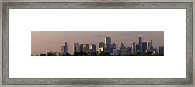 Houston Sunset Framed Print
