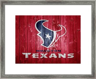 Houston Texans Barn Door Framed Print by Dan Sproul