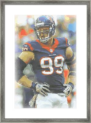 Houston Texans Jj Watt 2 Framed Print