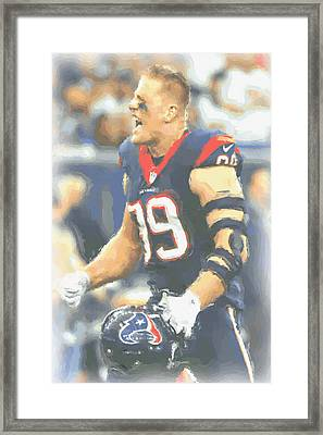 Houston Texans Jj Watt 5 Framed Print