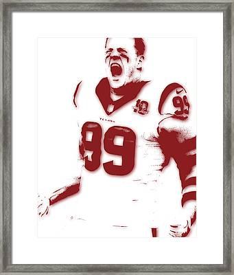 Houston Texans Jj Watts Framed Print by Joe Hamilton