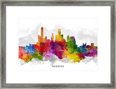 Houston Texas Cityscape 13 Framed Print