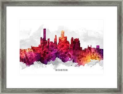 Houston Texas Cityscape 14 Framed Print