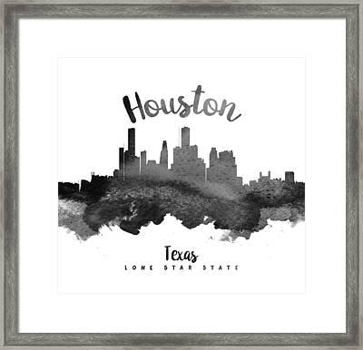 Houston Texas Skyline 18 Framed Print