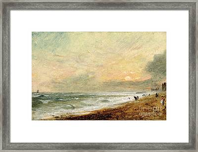 Hove Beach Framed Print by John Constable