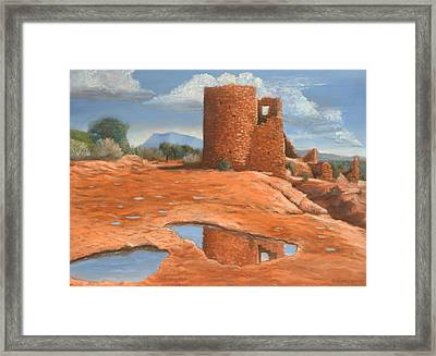 Hovenweep Reflection Framed Print by Jerry McElroy