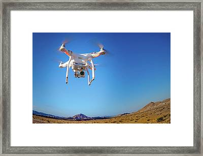 Hover Framed Print by Mark Dunton