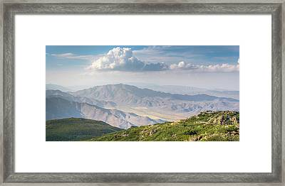 Framed Print featuring the photograph Hovering Over Granite Mountain by Alexander Kunz
