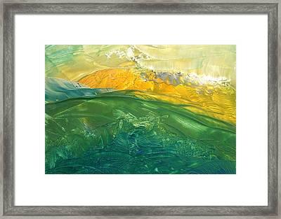 Hoverla At Sunset Framed Print by Marina Vasilenko