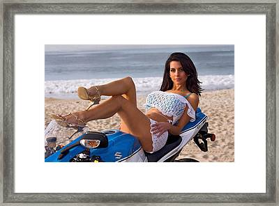 How About Those Legs? Framed Print by Lawrence Christopher