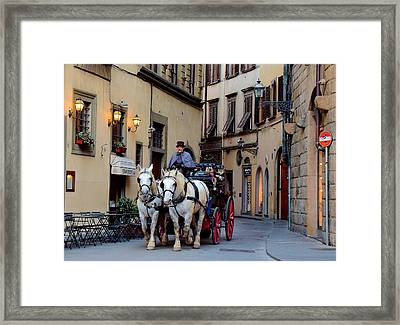 How Bout A Ride Framed Print by Frozen in Time Fine Art Photography