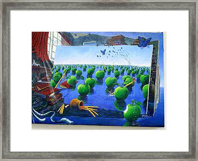 How Bout Those Apples Framed Print