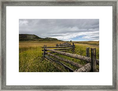 How Fences Are Made Framed Print by Jon Glaser