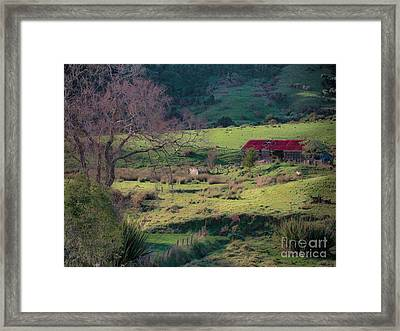 How Green Is My Valley Framed Print by Karen Lewis