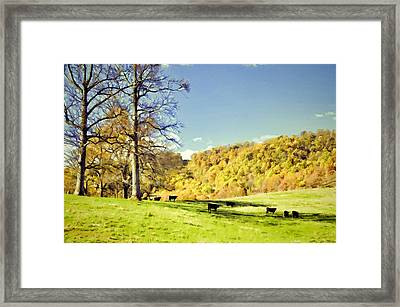 How Green Was Their Valley Framed Print by Jan Amiss Photography
