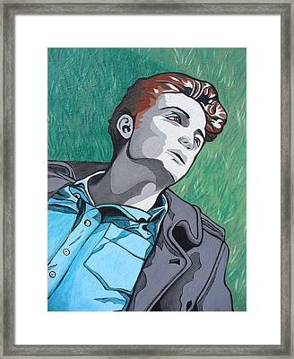 Framed Print featuring the painting How I See You by Sarah Crumpler
