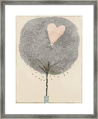 How Love Grows Framed Print