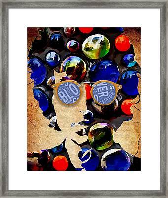 How Many Seas. Bob Dylan Framed Print