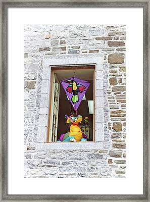 Framed Print featuring the photograph How Much Is That Dragon In The Window by John Schneider
