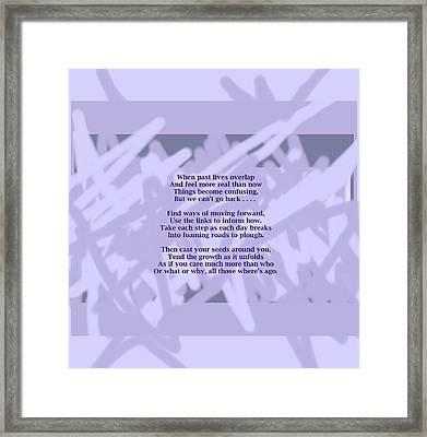 How Now Poem Framed Print