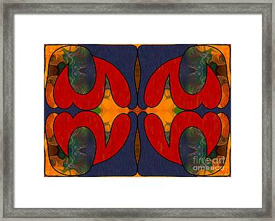 How Sweet It Is Abstract Art By Omashte Framed Print by Omaste Witkowski