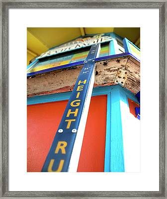 Framed Print featuring the photograph How Tall Am I  by Lora Lee Chapman