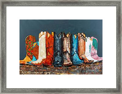 How The West Was Really Won Framed Print by Frances Marino