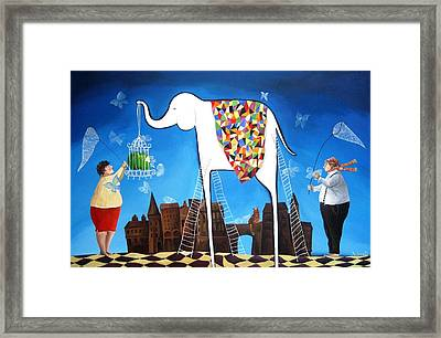 How To Catch A Butterfly Framed Print by Yelena Revis
