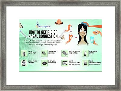 How To Get Rid Of Nasal Congestion Framed Print