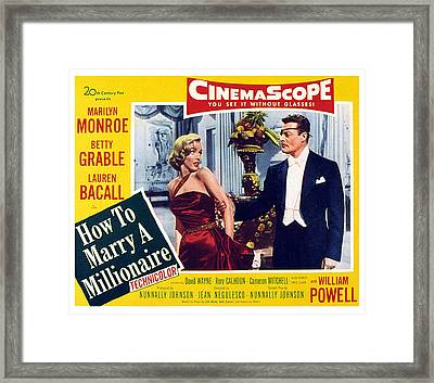 How To Marry A Millionaire, Marilyn Framed Print by Everett