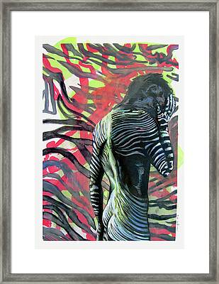 Rising From Ashes Zebra Boy Framed Print