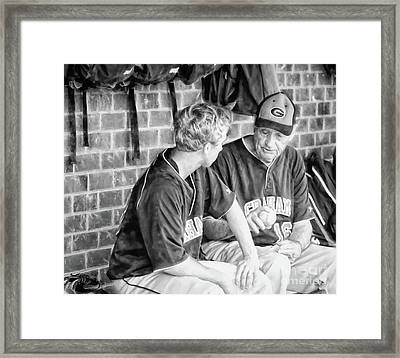 How To Throw A Curve Ball Framed Print by Benanne Stiens