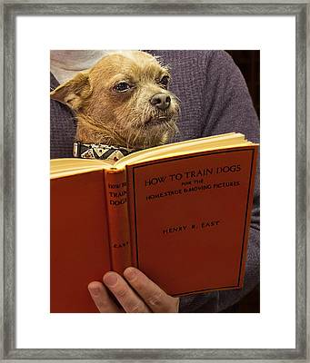 How To Train Dogs Framed Print