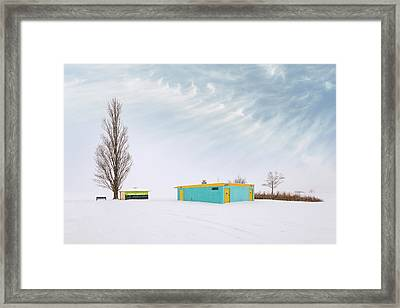 How To Wear Bright Colors In The Winter Framed Print by John Poon