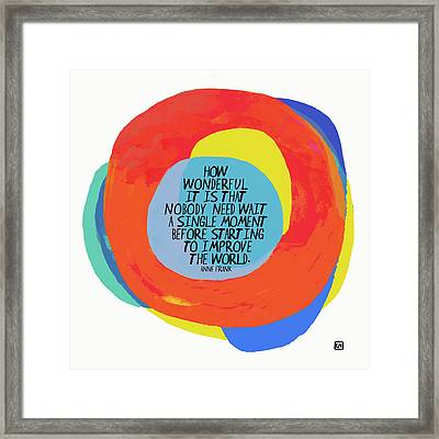 How Wonderful Framed Print