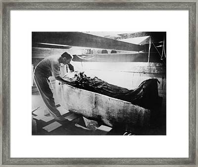 Howard Carter 1874-1939,  Turning Back Framed Print by Everett