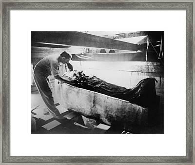 Howard Carter 1874-1939,  Turning Back Framed Print by Everett