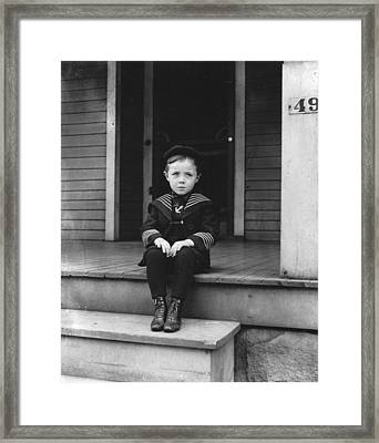 Howard Finly Sitting Down  Framed Print