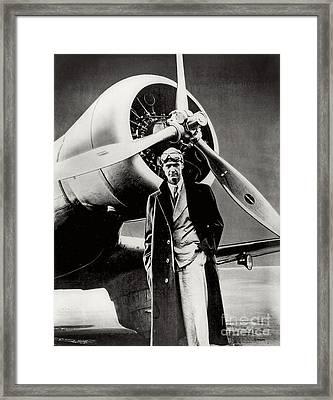 Howard Hughes - American Aviator  Framed Print