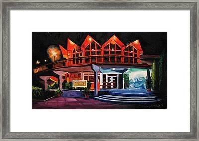 Howard Johnsons At Night Framed Print by Patricia Arroyo
