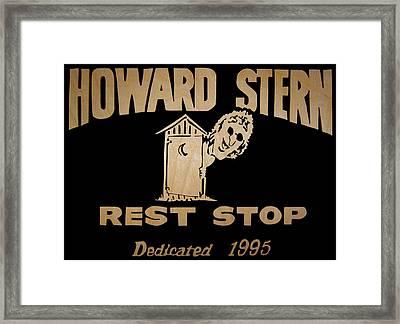 Howard Stern Rest Stop Framed Print by Michael Bergman