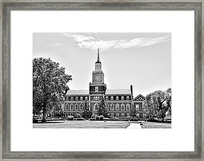 Howard University - Founders Library Framed Print by Brendan Reals