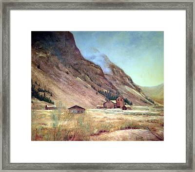 Howardsville Colorado Framed Print by Evelyne Boynton Grierson