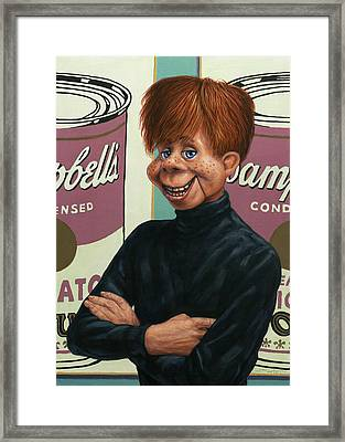 Howdy Andy Doody Framed Print by James W Johnson