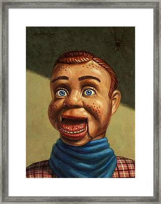 Howdy Doody Dodged A Bullet Framed Print by James W Johnson