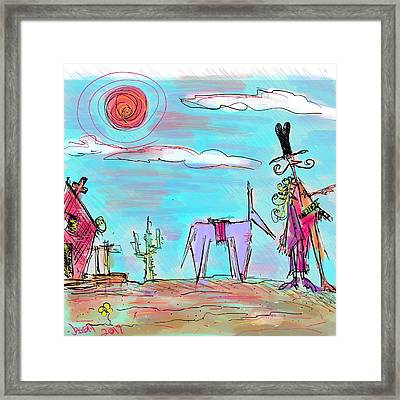 Howdy Pardner...the Frontier Awaits Framed Print