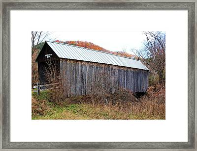 Howe Covered Bridge Framed Print