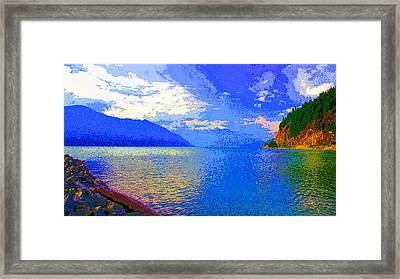 Howe Sound Near Vancouver Image Framed Print