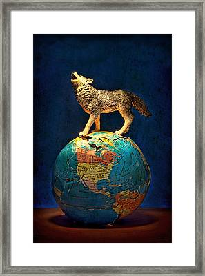 Howling At The Light Framed Print by Jeff  Gettis
